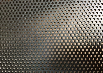 Strong Coated DVA Black Perforated Aluminum Sheet 8KG Weight Flat Surface